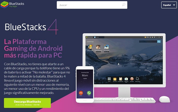 Descargar Emulador Android bluestack4 para Free Fire en PC